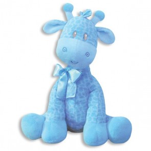 Blue Giraffe Rattle 9""