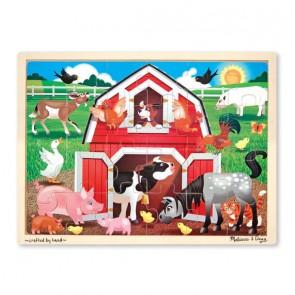 Melissa & Doug Barnyard Jigsaw Puzzle 24 pc