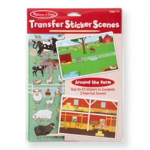 Melissa & Doug Transfer Sticker Scenes-Around The Farm Farm