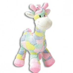Multi Color Plush Giraffe Rattle